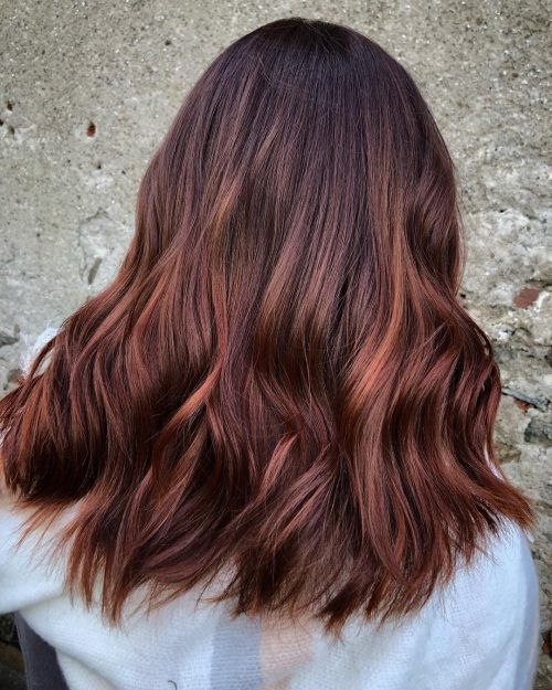 Auburn Red and Chestnut Balayage