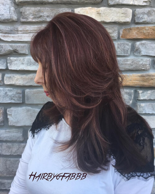 auburn rose gold highlights hair color