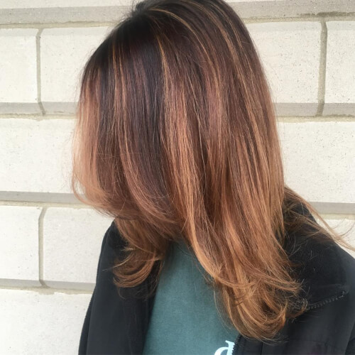 auburn sombre hair color