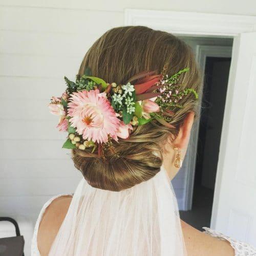 Aussie-Inspired Chignon hairstyle