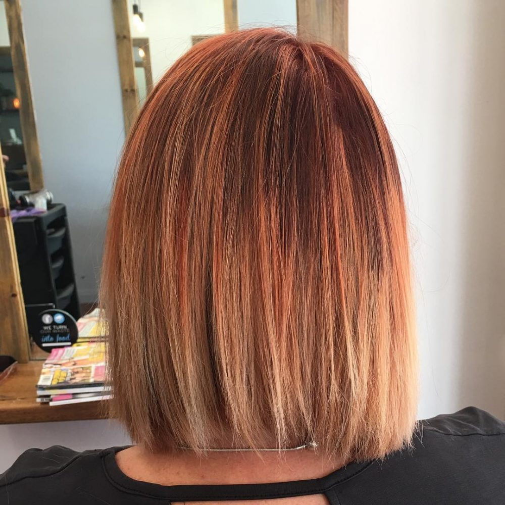 Autumn-Toned Ombre hairstyle