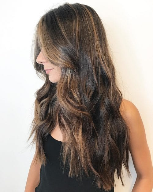 29 incredible dark brown hair with highlights trending for 2018 babylight babe hairstyle pmusecretfo Choice Image