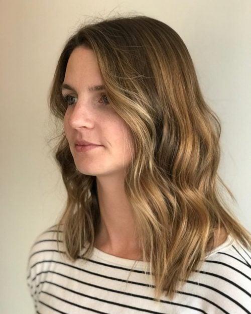 Balanced Lob hairstyle