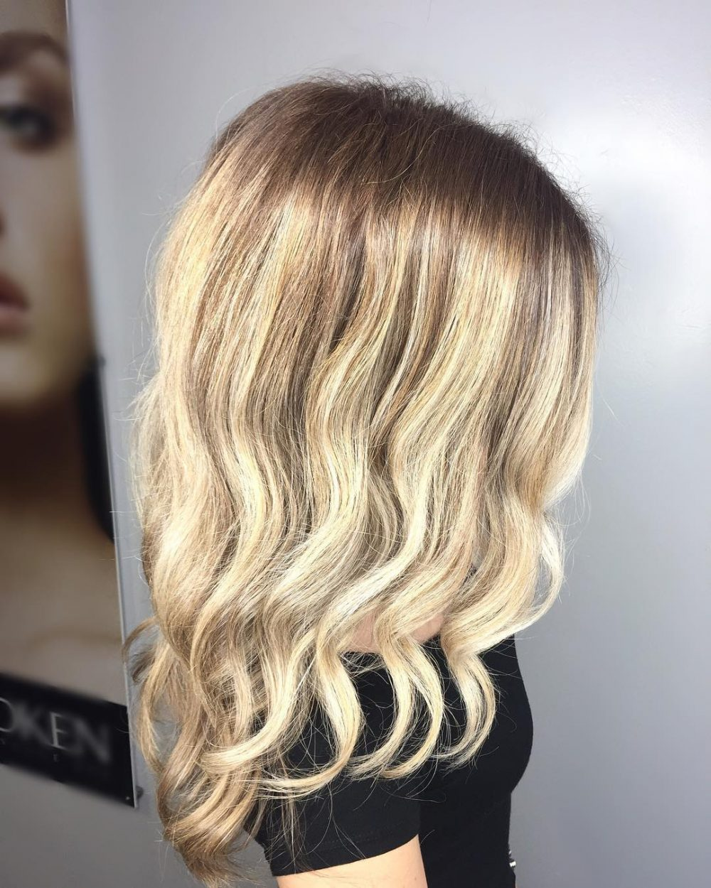 Balayage and Shadow Root hairstyle