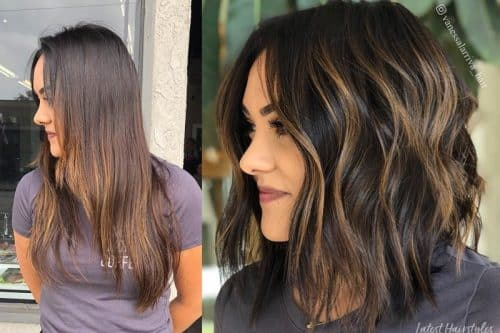 Balayage brown hair colors
