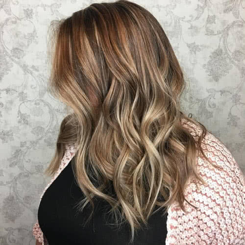 Transitional Highlights hairstyle