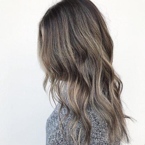 Black Hair with Platinum Highlights