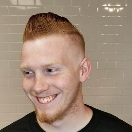 Undercut Memudar Botak Penuh