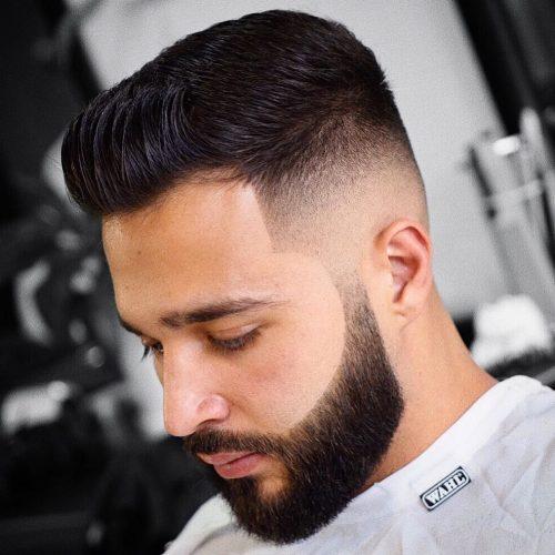 Desvanecimiento calvo con barba