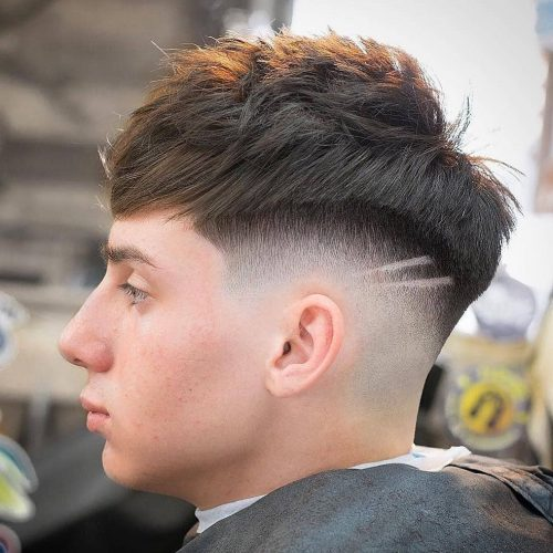 haircut skin tight with design