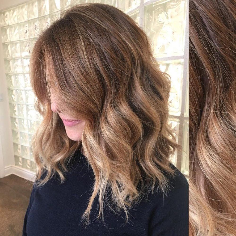 Mid Length Beach Wave Balayage hairstyle
