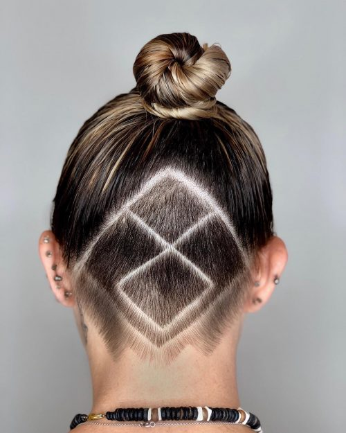 19 Edgy Undercut Designs in 2019 Flowers, Hearts, Chevrons