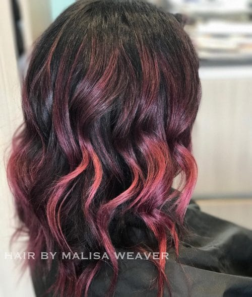29 incredible dark brown hair with highlights for 2017 berry toned waves hairstyle pmusecretfo Images