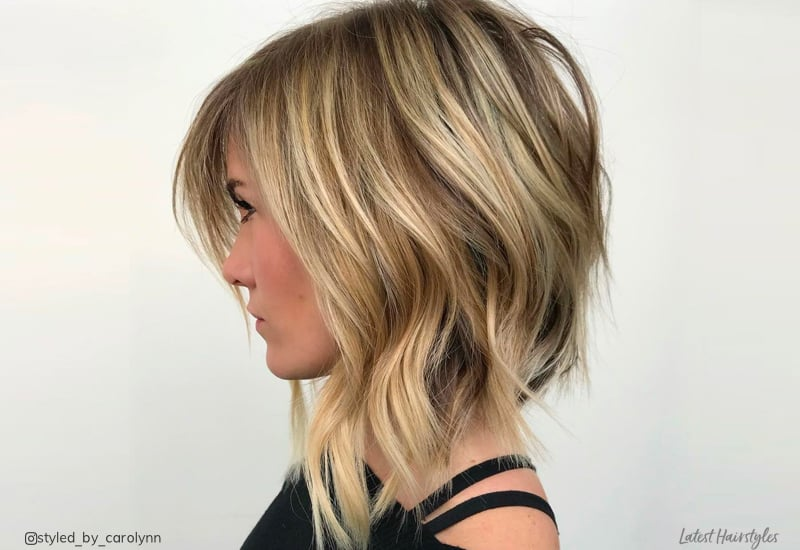 18 Long Angled Bob Hairstyles Trending Now For 2019