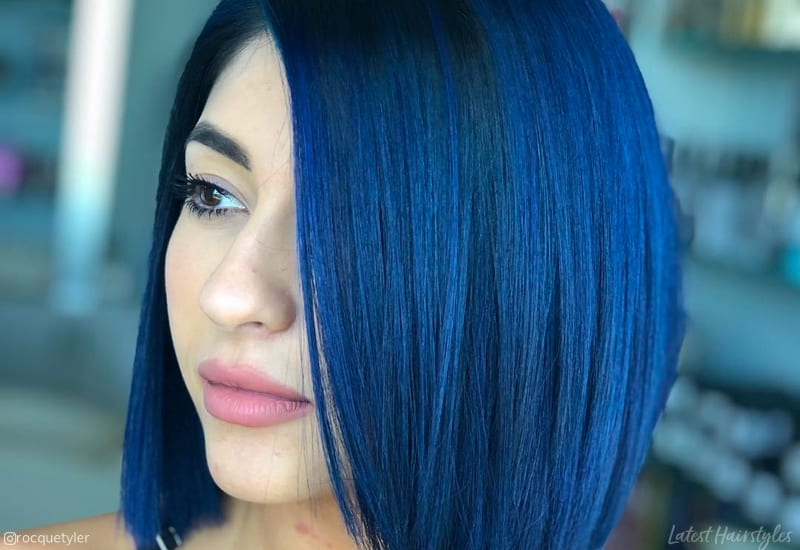 16 Stunning Midnight Blue Hair Colors To See In 2019