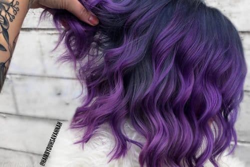21 Purple Highlights Trending In 2019 To Show Your Colorist