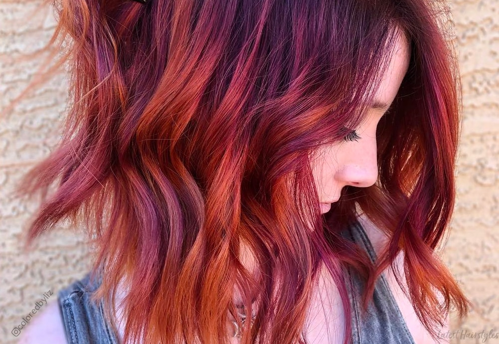 37 Best Red Highlights In 2020 For Brown Blonde Black Hair