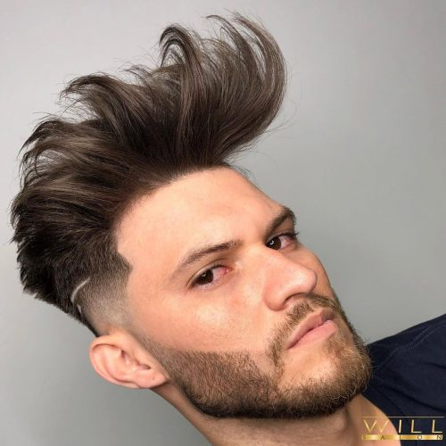 Copete de pelo de gran volumen