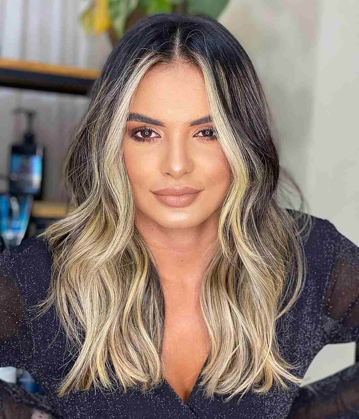 Black and Blonde Highlights