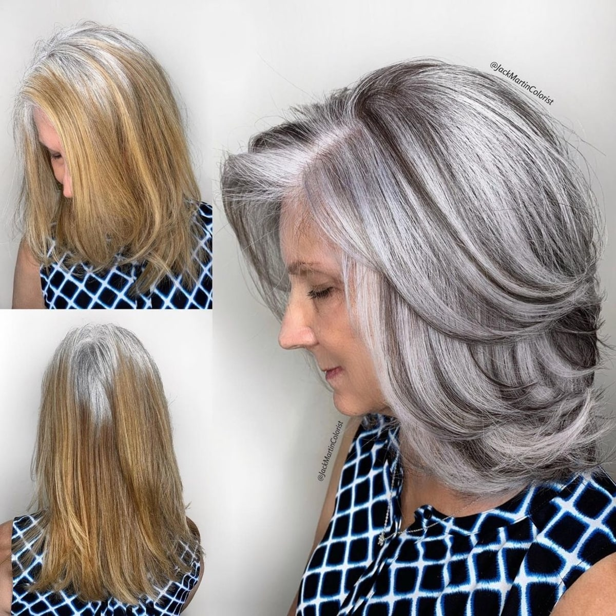 3 Youthful Hairstyles for Women Over 3 with Grey Hair