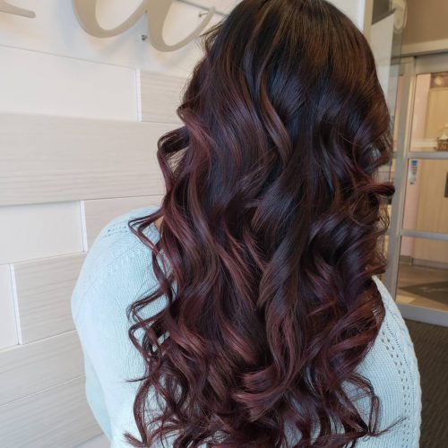 11 Amazing Examples Of Black Cherry Hair Colors In 2019
