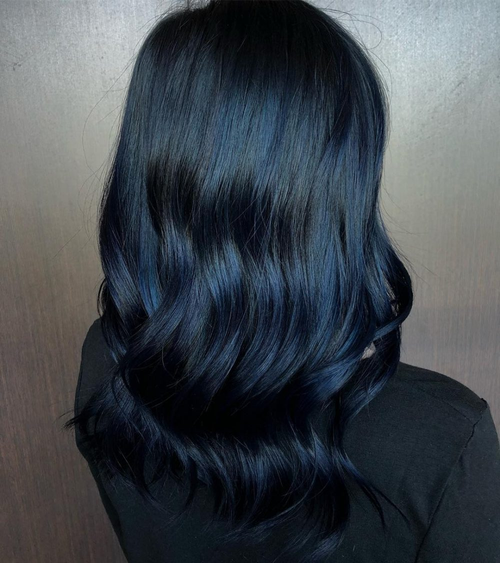 Jet hair black with blue tint forecast dress in everyday in 2019