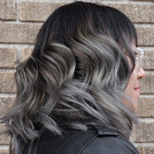 Picture of a black to grey ombre