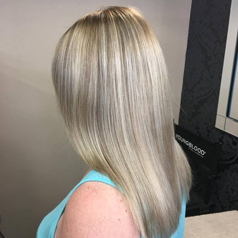 Blended Blonde hairstyle