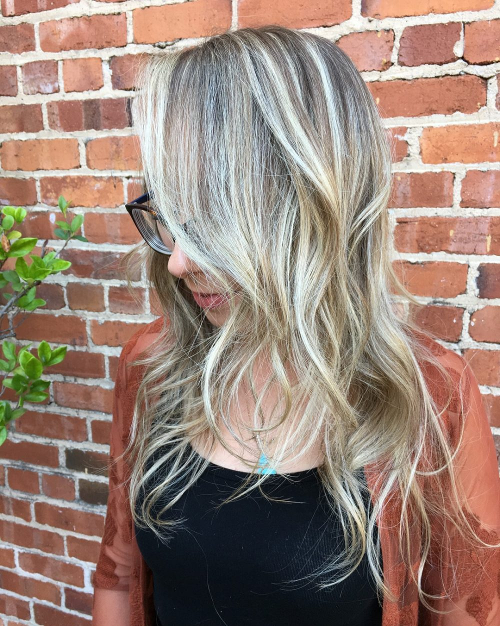 Blonde Balayage with Lowlights hairstyle