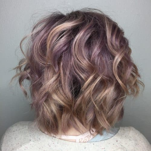 Blonde with Silver/Purple