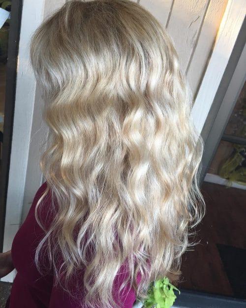 Blonde Boho Waves hairstyle