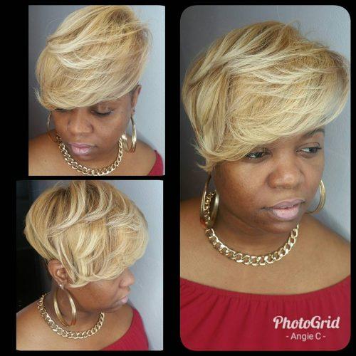 Blonde Undercut hairstyle