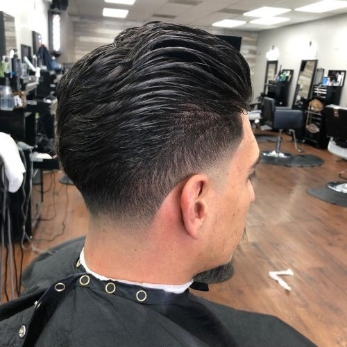 Picture of a blowout taper fade