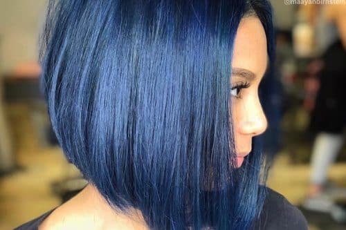 Blue black hair colors
