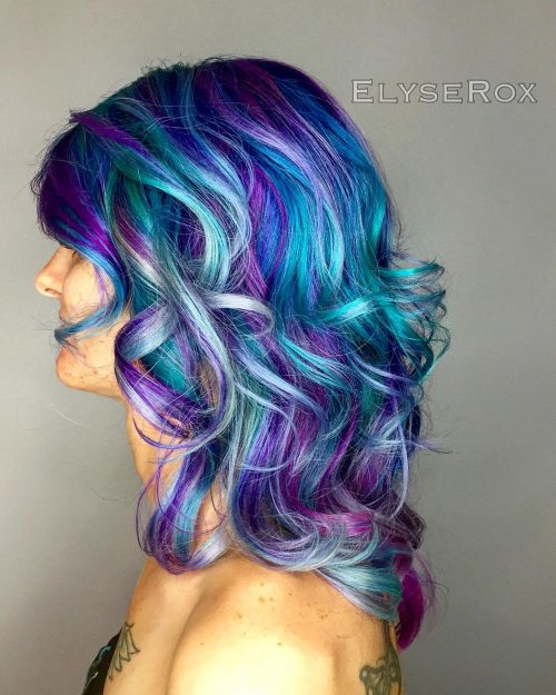 Picture of a blue purple for a funky look