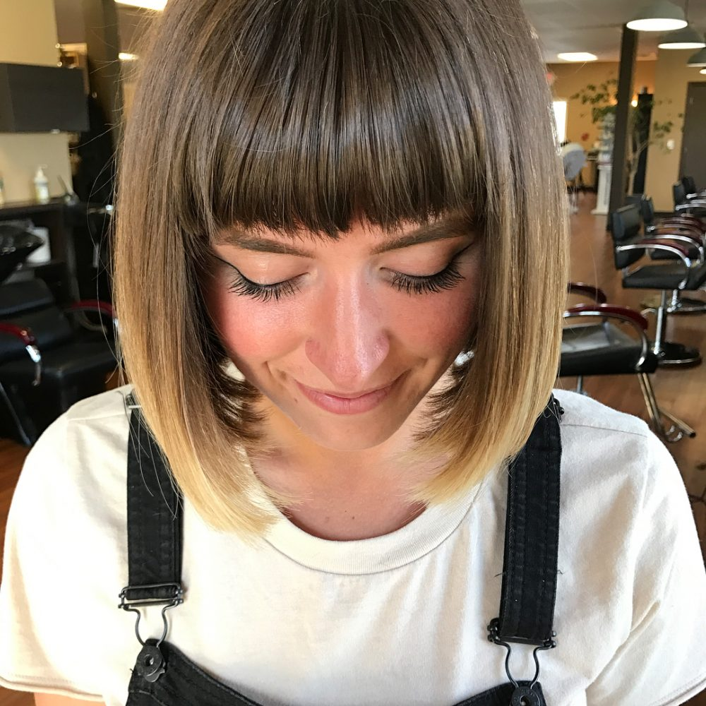 Blunt Bob with Precise Bangs hairstyle
