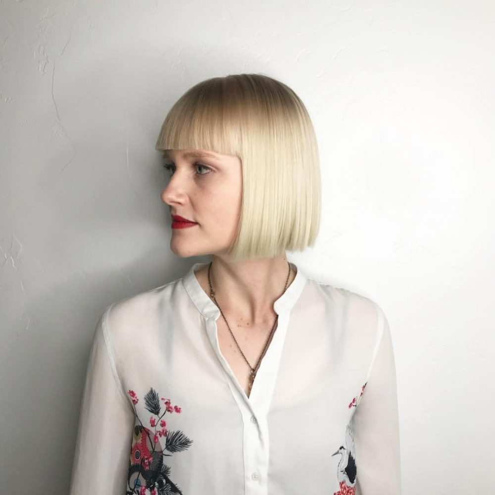 Blunt Cut Bob and Bangs hairstyle