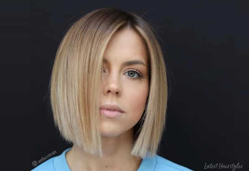 These 14 Blunt Cut Bob Haircuts Are Trending In 2019