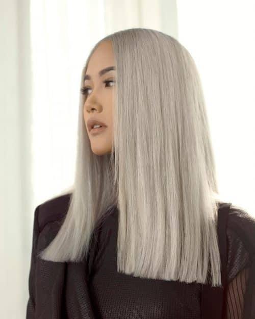 corte contundente para cabello largo y fino