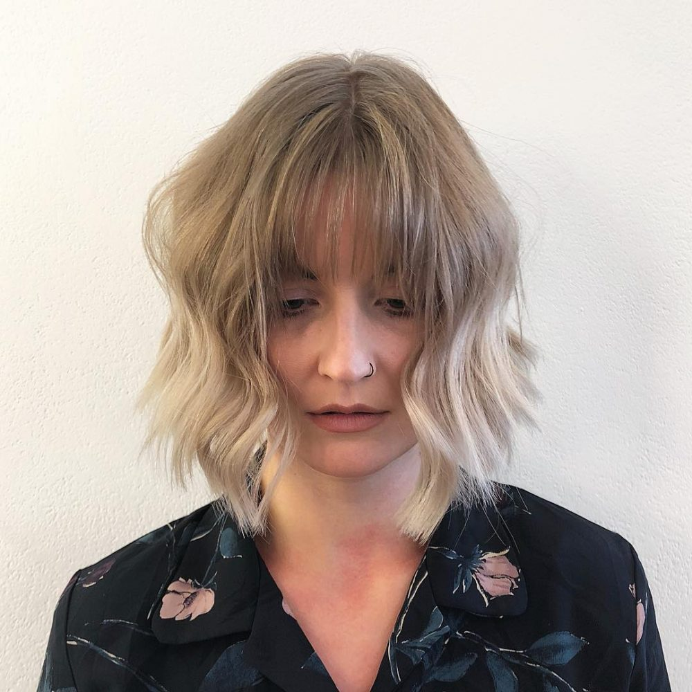 32 perfect short hairstyles for thin hair 2018s most popular blunt modern bob hairstyle winobraniefo Image collections