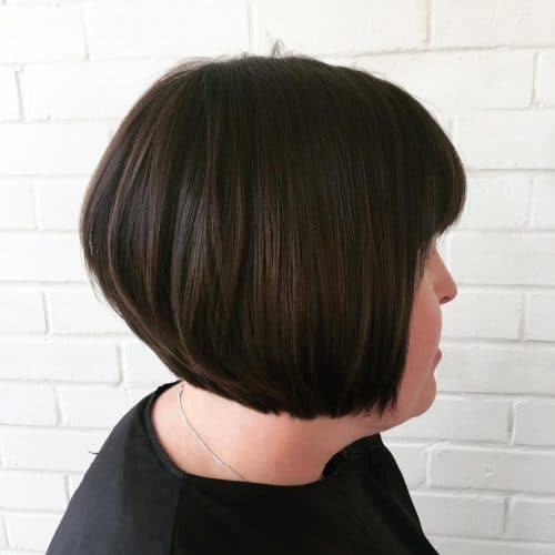 Blunt Bob with Fringe hairstyle