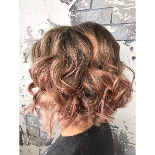 blush colored hues rose gold hair color