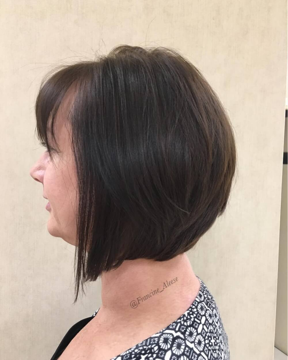 A lovely layered bob hairstyle