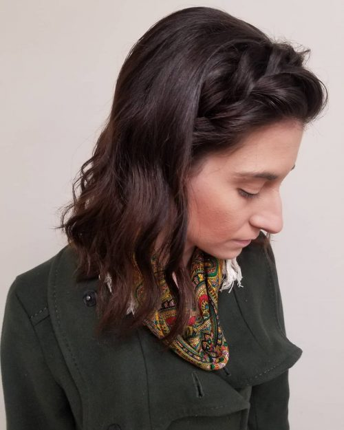 Picture of a boho casual chic hairstyle