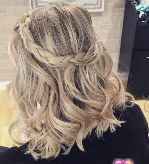 Picture of a boho braids for shoulder length hair