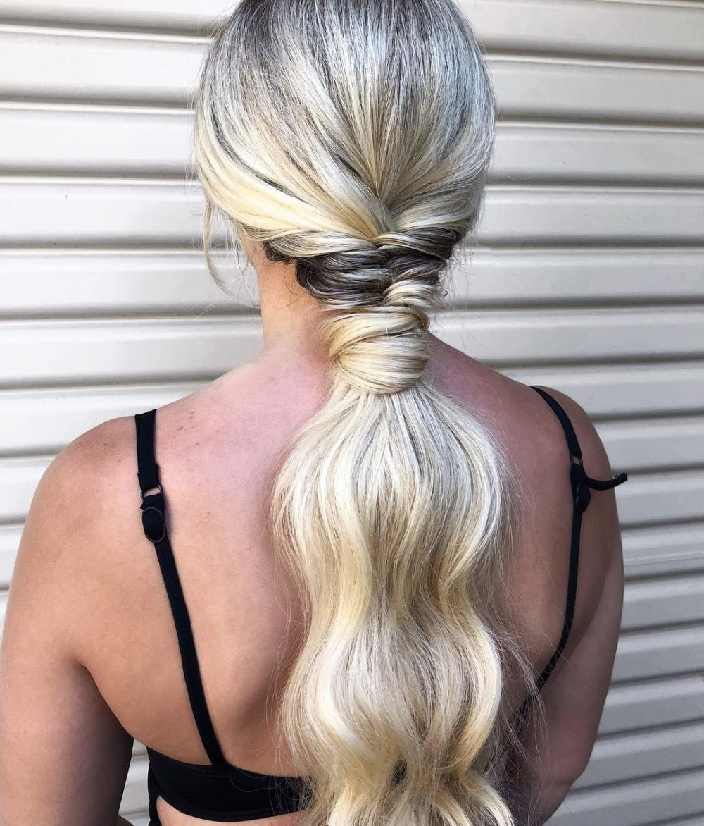 Boho Low Pony hairstyle