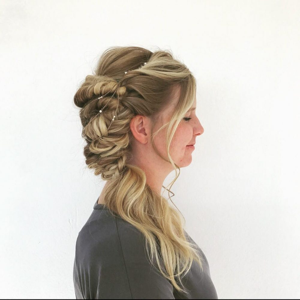 Boho Side-Swept Braid hairstyle
