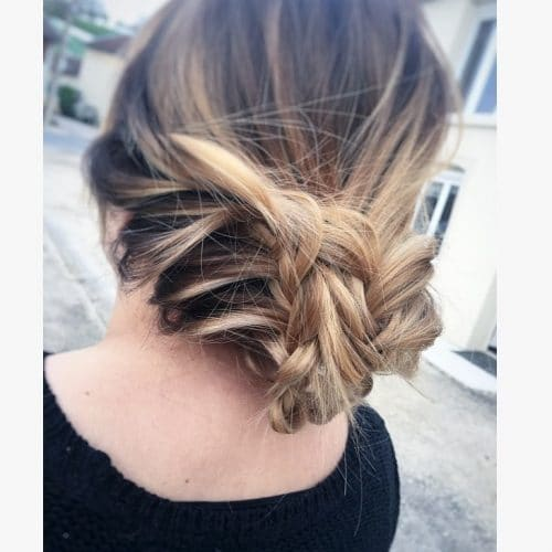 Boho Braided Chignon hairstyle