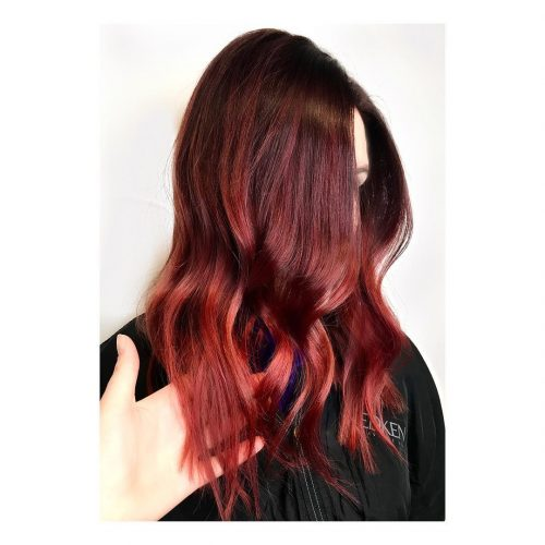 Picture of bold cherry red hair