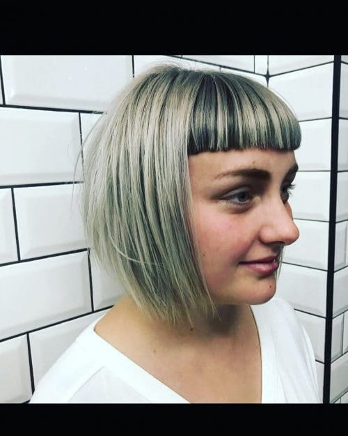 Box Bob With Microfringe hairstyle